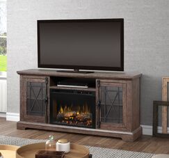 TV Stand with Fireplace Firebox Type: Realogs (XHD)