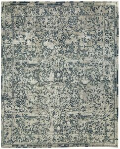 One-of-a-Kind Neo Villa Winter Fresh Hand-Knotted Beige/Light Blue Area Rug