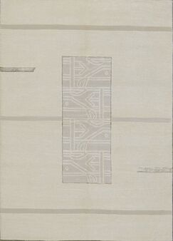 Tibetan Hand-Knotted Wool Ivory Area Rug