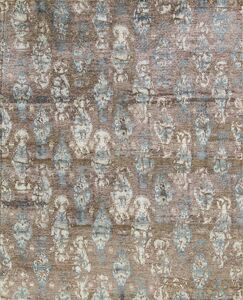 One-of-a-Kind Modern Hand-Knotted Rust Area Rug