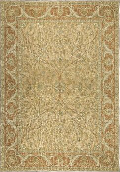 One-of-a-Kind Turkish Nature Hand-Knotted Wool Beige/Rose Area Rug