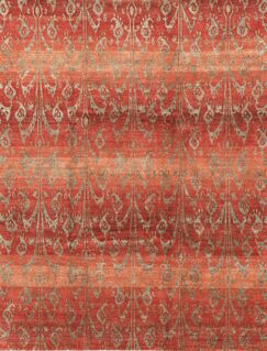 One-of-a-Kind Himalayan Hand-Knotted Red Area Rug