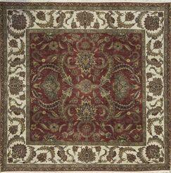 One-of-a-Kind Handwoven Wool Red/Beige Indoor Area Rug