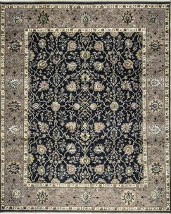One-of-a-Kind Marla Hand-Knotted Wool Black/Gray Indoor Area Rug
