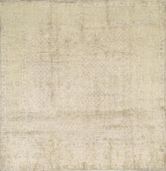One-of-a-Kind Hand-Knotted Silk Beige Indoor Area Rug