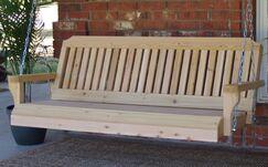 Himrod Traditional Cedar Porch Swing Finish: Natural/Regular, Size: 24