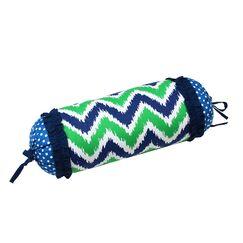 Mix N Match Cotton Bolster Pillow Color: Navy / Green
