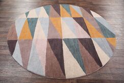 Vanessa Gabbeh Traditional Oriental Hand-Tufted Wool Brown/Blue/Yellow Area Rug