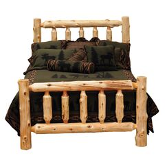 Traditional Cedar Log Panel Bed Color: Traditional Cedar, Size: Twin