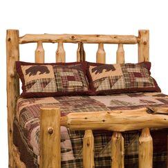 Traditional Cedar Log Slat Headboard Size: Queen, Color: Regular