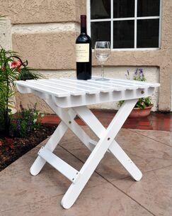 Makenzie Adirondack Folding Table Finish: White