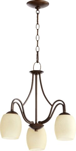 Mcguire 3-Light Shaded Chandelier Finish: Classic Nickel, Shade Color: Cream