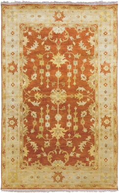 Temptress Gold/Red Rug Rug Size: Rectangle 5' x 8'