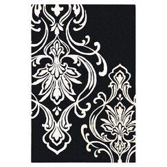 Modern Classics Black/Cream Rug Rug Size: Square 1'6