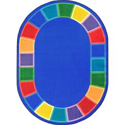 Kid Essentials Blue Indoor/Outdoor Area Rug Rug Size: Oval 5'4