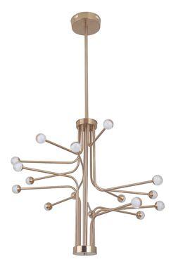 Dittrich 16-Light  LED  Chandelier Finish: Satin Brass