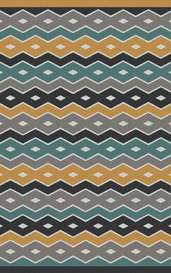Native Geometric Hand Woven Wool Blue/Gray Area Rug Rug Size: Rectangle 5' x 8'