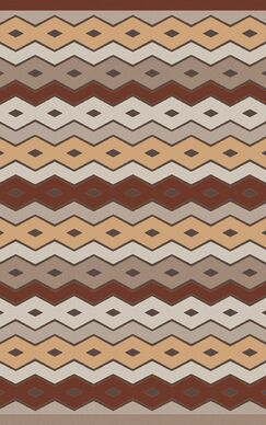 Native Geometric Hand Woven Wool Brown/Beige Area Rug Rug Size: Rectangle 8' x 11'