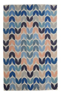 Tulip Hand-Woven Blue Area Rug Rug Size: 9' x 12'