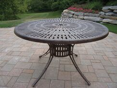 Sunray Aluminum Dining Table Color: Antique Bronze