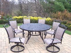 Mississippi 7 Piece Sling Dining Set Finish: Coffee