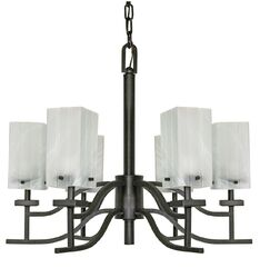 Cyprian 6-Light Shaded Chandelier
