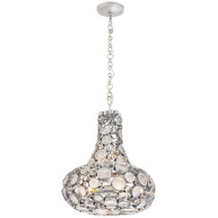 Fascination 3-Light Teardrop Pendant Finish: Metallic Silver