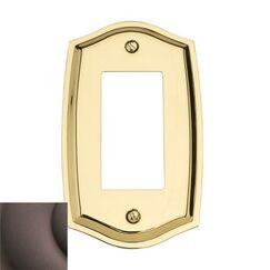 Classic Square Bevel Design Double Duplex Switch Plate Color: Venetian Bronze, Size: 7.4