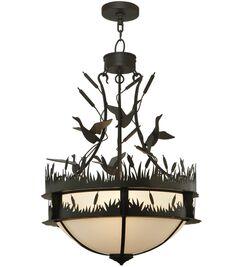 Ducks in F Light Bowl Pendant