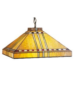 Mission Arts and Crafts Stickley Prairie Corn 4-Light Pool Table Light