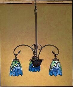 Nouveau Iris 3-Light Shaded Chandelier