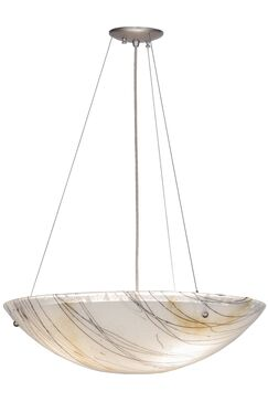 Greenbriar Oak 3-Light Bowl Pendant