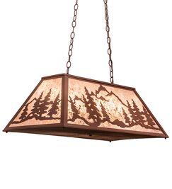 Greenbriar Oak Mountain Range 6-Light Pool Table Lights Pendant