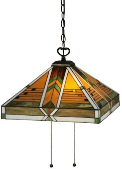 Abilene 2-Light Square/Rectangle Pendant