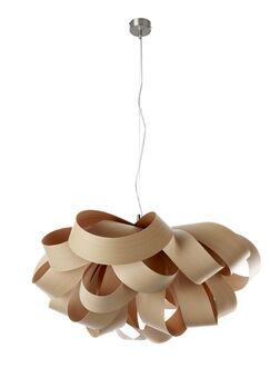 Agatha 3-Light Novelty Chandelier Size: Small, Bulb Type: GU24 Base, Finish: Natural Beech