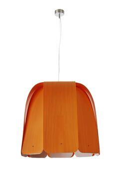 Domo 1-Light Inverted Pendant Bulb Type: GU24 Base, Finish: Natural Cherry, Size: 15