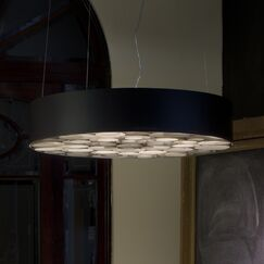 Spiro Drum Pendant Shade Color: White, Interior Shade Color: Red, Voltage: Multivolt