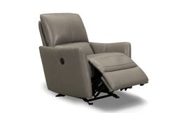 Mcnealy Leather Power Rocker Recliner Upholstery: Gray