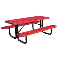 Picnic Table Finish: Green, Table Size: 96