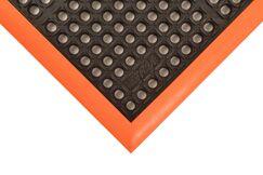 Safety Stance Utility Mat Color: Orange/Black, Mat Size: Rectangle 3'2