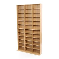 Multimedia Storage Rack Color: Maple