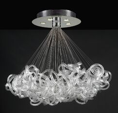 Elegance 5-Light Pendant Size: 40