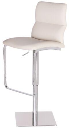 Intel Adjustable Height Swivel Bar Stool Upholstery: White