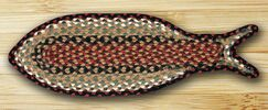 Braided Burgundy/Mustard Area Rug Rug Size: Novelty 9