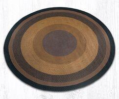 Braided Brown/Black Area Rug Rug Size: Round 7'9