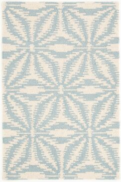 Aster Hooked White/Blue Area Rug Rug Size: Rectangle 6' x 9'