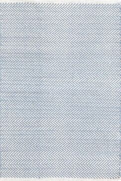 Herringbone H Woven Swedish Blue Area Rug Rug Size: 2' x 3'