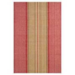 Hand Woven Cotton Red Area Rug Rug Size: 9' x 12'