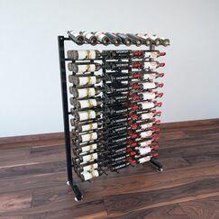 IDR Series 117 Bottle Floor Wine Rack Finish: Black