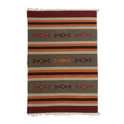 Reinhardt Stripes Hand-Woven Wool Gray Area Rug